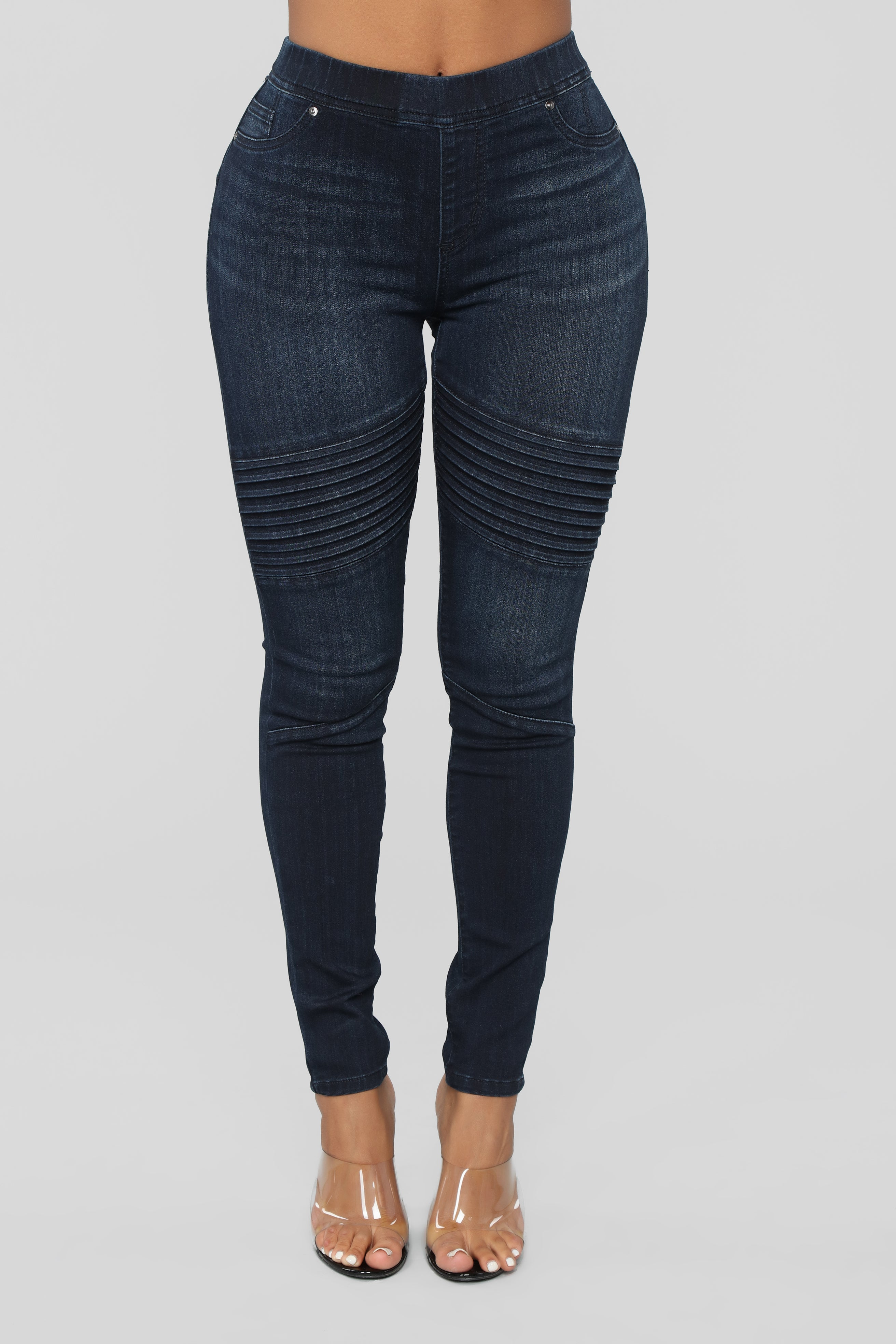 1934159fe7b Independent Woman High Rise Moto Jeans - Dark Denim