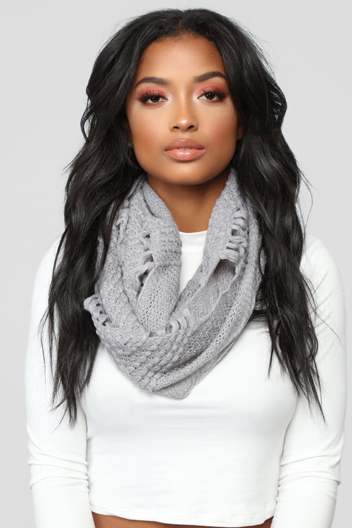 You Made The Cut Scarf - Grey