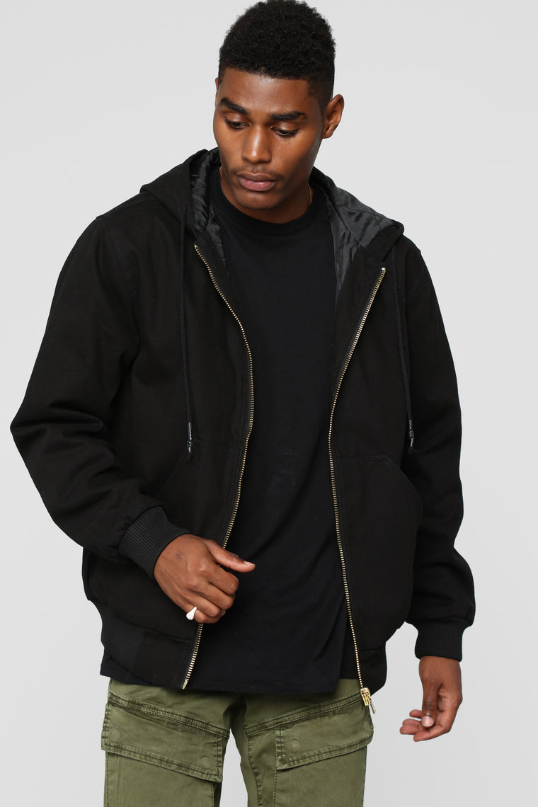 Montana Zip Up Hoodie - Black