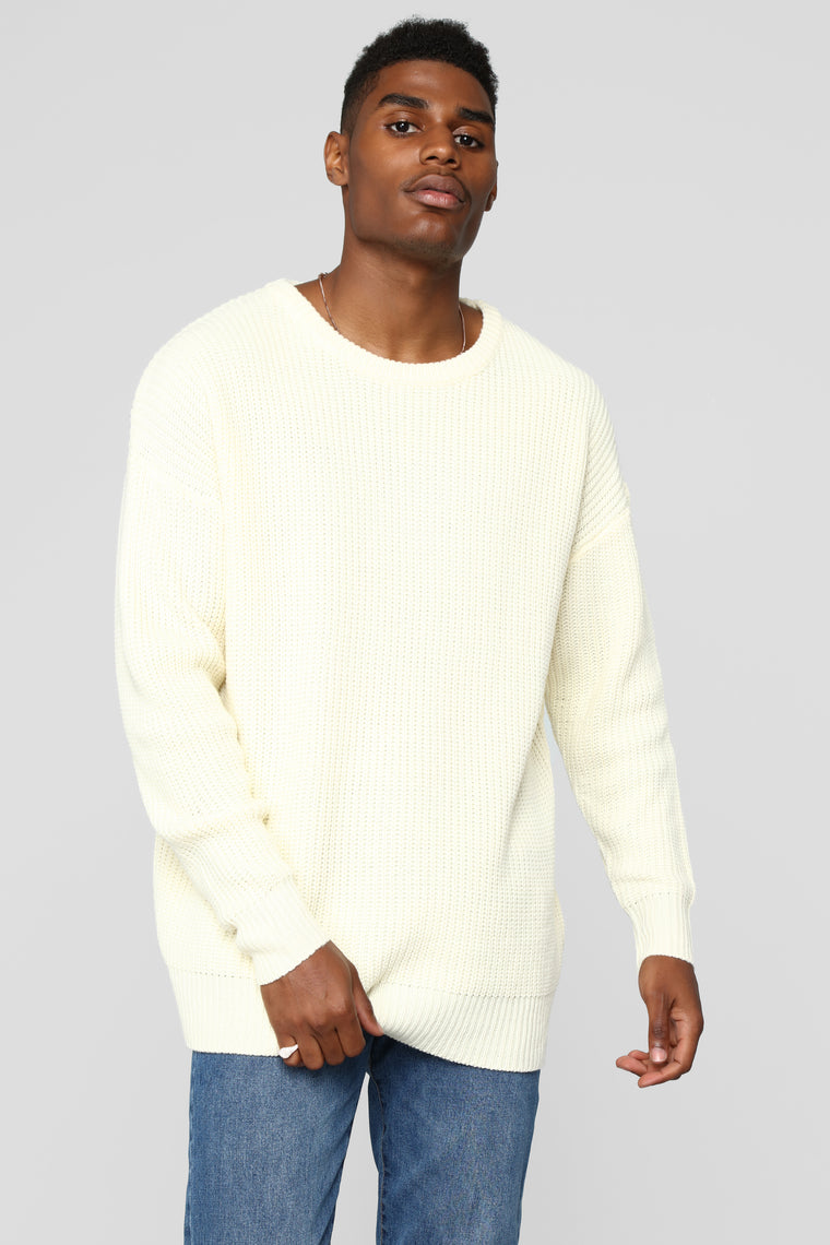 Cole Crew Neck Sweater - Cream