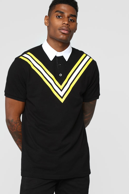 Champ Short Sleeve Polo - Black/combo