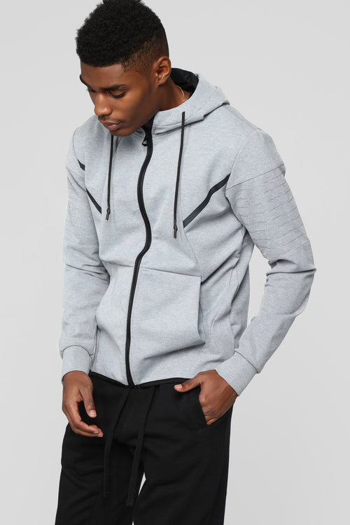 Brandon Athletic Hoodie - Grey
