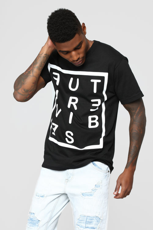 Future Vibes Short Sleeve Crew Tee - Black