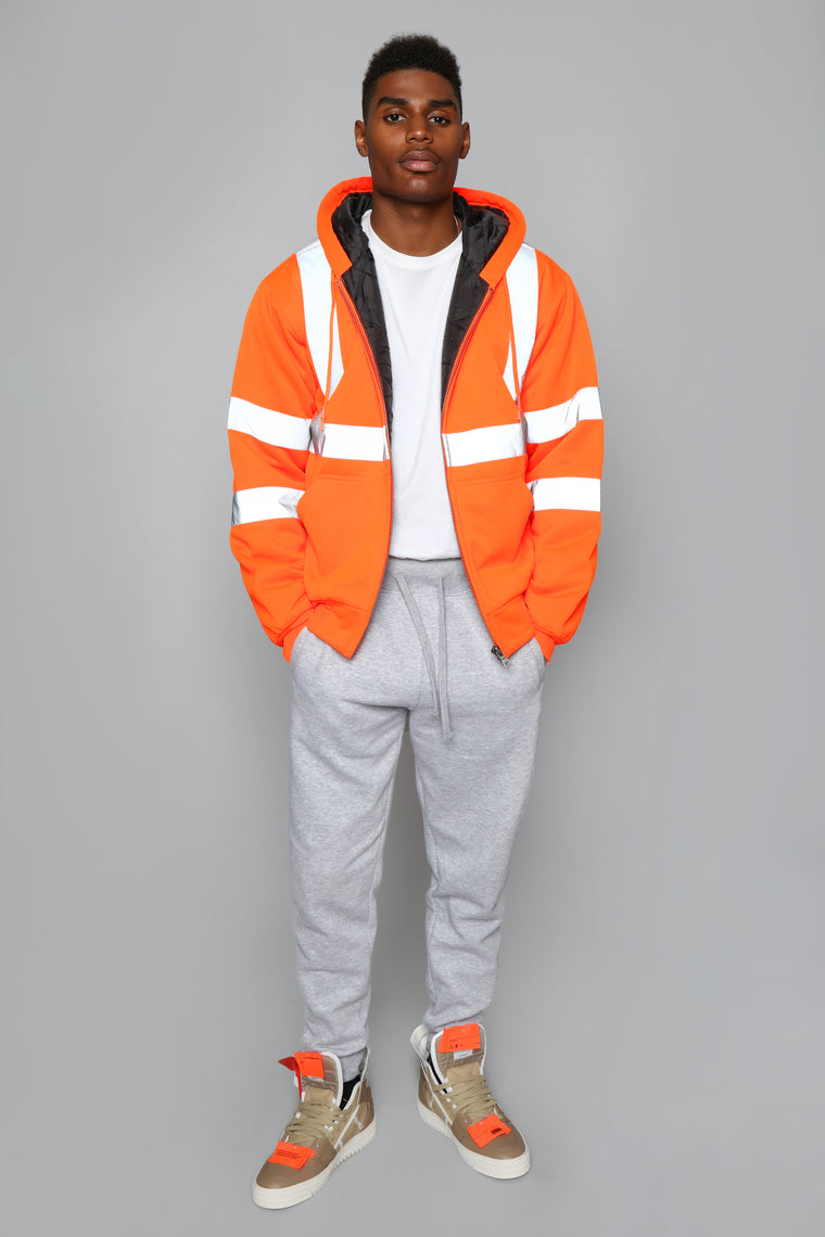 Kenny Zip Up Hoodie - Orange