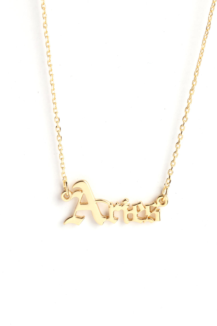 It's Like That 'Aries' Pendant - Gold