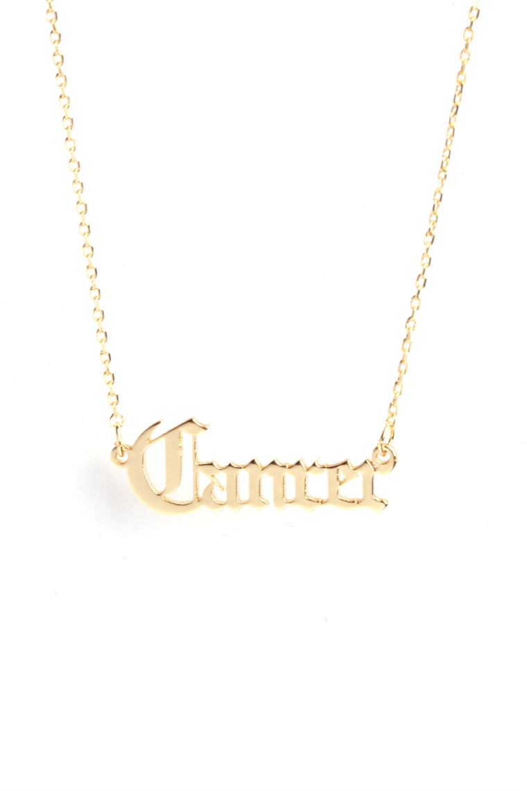 It's Like That 'Cancer' Pendant - Gold