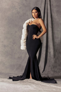 Feeling Exquisite Mermaid Dress - Black Angle 1