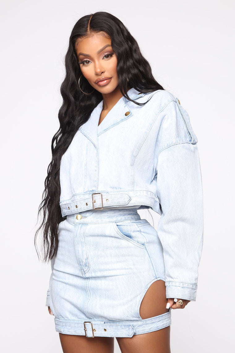 Take My Time With It Denim Jacket   Light Wash by Fashion Nova
