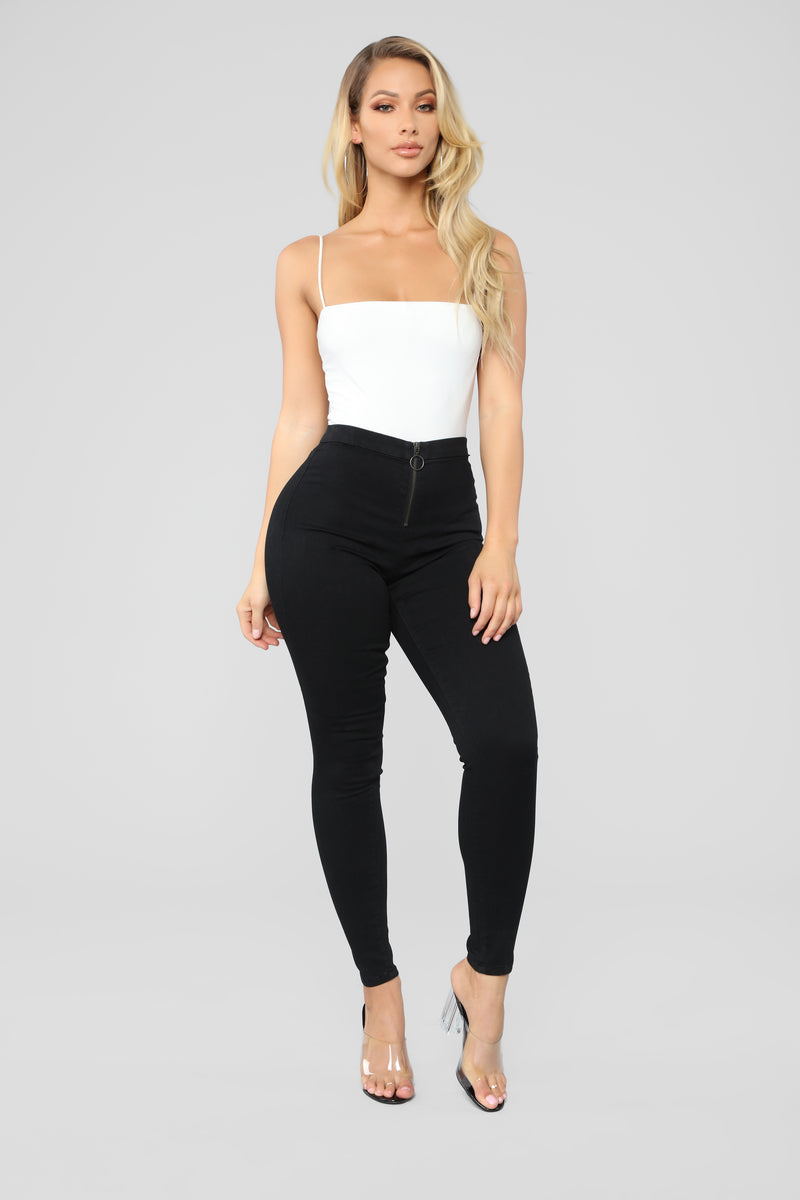Up To No Good High Rise Skinny Jeans - Black
