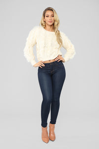Fringe In Love Sweater - Ivory