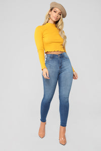 Edgy Marrow Hem Top - New Mustard