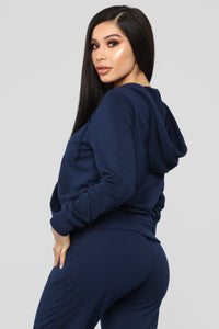 Latest And Greatest French Terry Zip Hoodie - Navy Angle 5