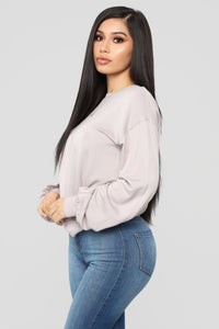 Throw It On Long Sleeve Top - Mauve