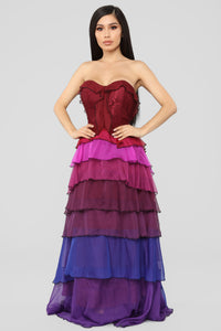 Secret Romance Maxi Dress - Purple/Multi Angle 3