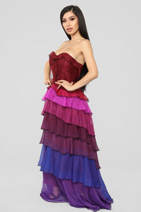 Secret Romance Maxi Dress - Purple/Multi Angle 1