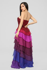Secret Romance Maxi Dress - Purple/Multi Angle 4
