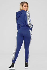 Our Love Is On Track Jogger - Blue Angle 5