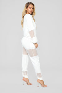 Fish Out Of Water Pant Set - White