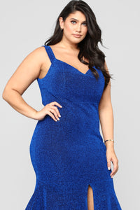 Round And Round You Go Dress - Royal