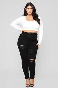 Anything But Square Crop Top - White