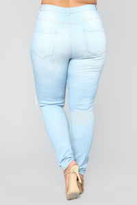 Live Let Live Skinny Jeans - Light Blue Wash Angle 12