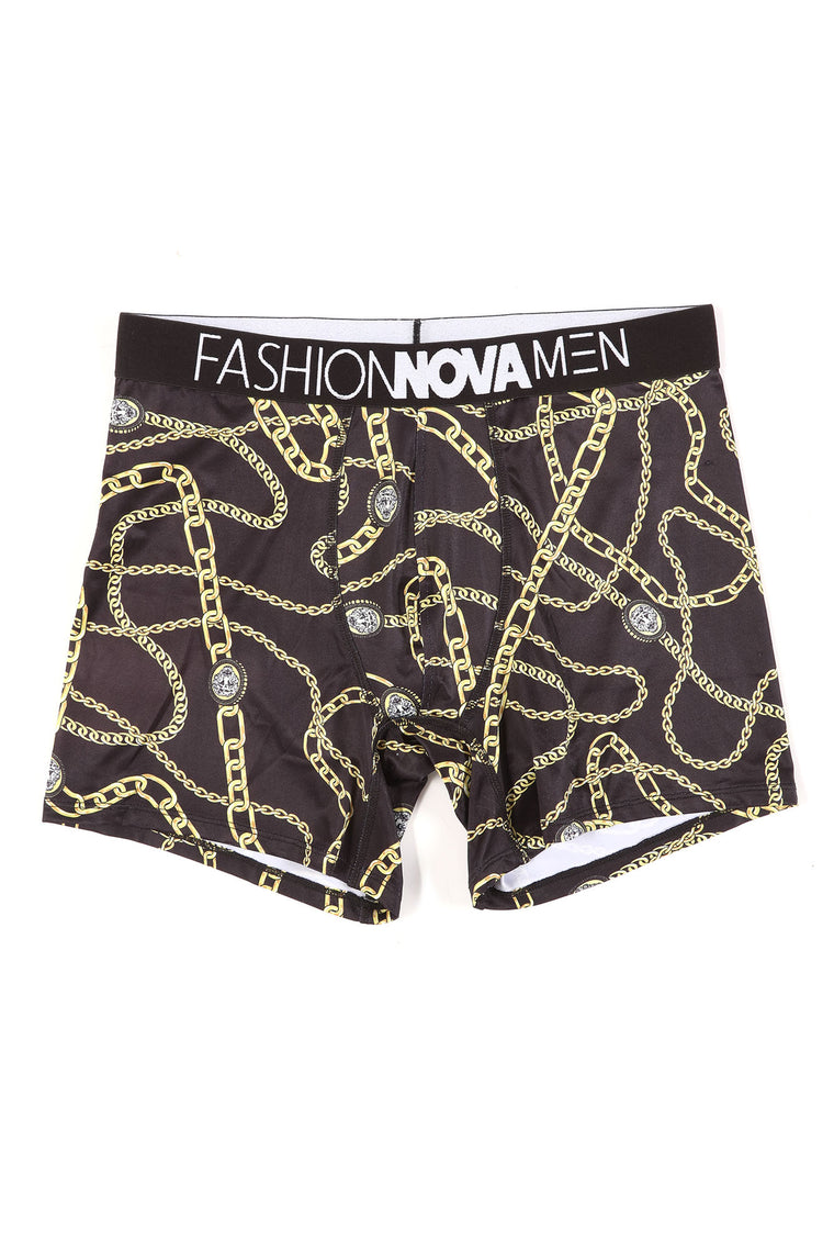 Kieston Boxer Trunks - Black/Gold
