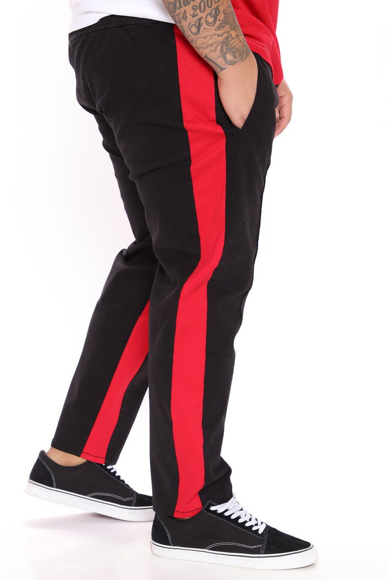 Not A Copy Paneled Pant - Black/Red