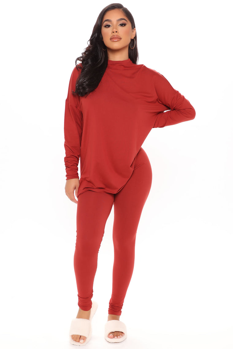 Everything Legging Set - Rust