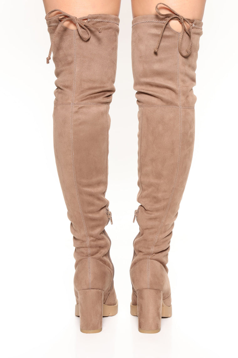 Walk It Back Heeled Boots - Taupe