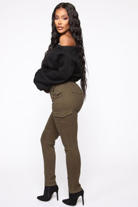 Call It Quits Cargo Pants - Olive