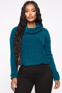 Soft Kissed Sweater - Blue Angle 2