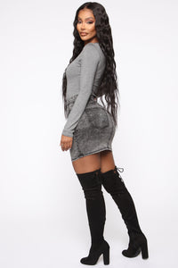 Running To You Long Sleeve Bodysuit - Heather Grey