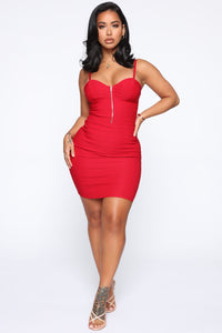 Take It Easy Mini Dress - Red