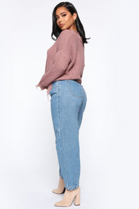 Daydreaming High Rise Mom Jeans - Medium Wash Angle 6