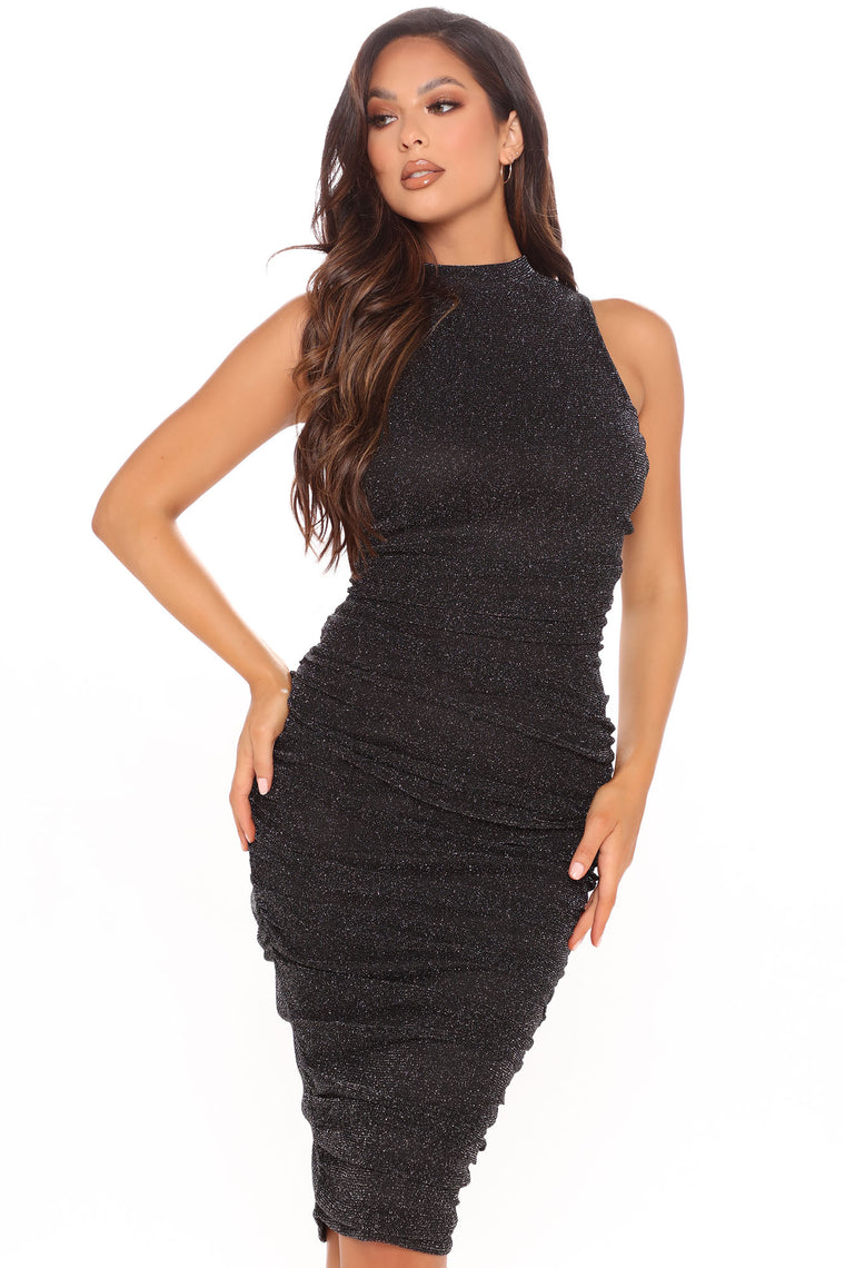 Keep Standards High Midi Dress - Black