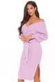 Mona Sweater Midi Dress - Lavender