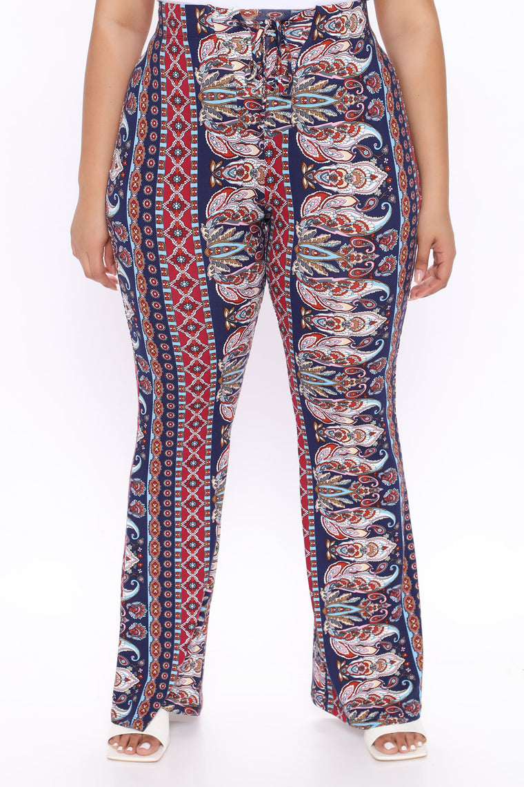 Boho Baby Pants - Blue/Multi