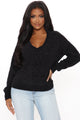 V Right There Pullover Sweater - Black
