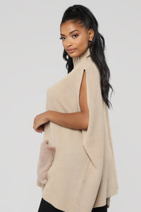Fur My Lover Sweater - Taupe