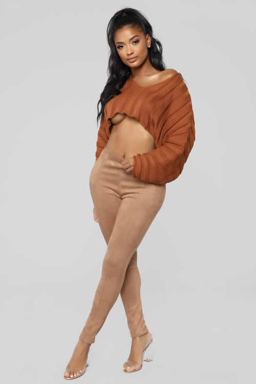 You Know Who I Am Suede Leggings - Mocha