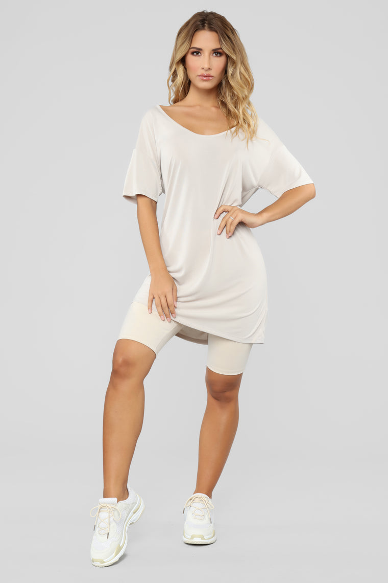 Casual Sundays Tunic Top - Sand