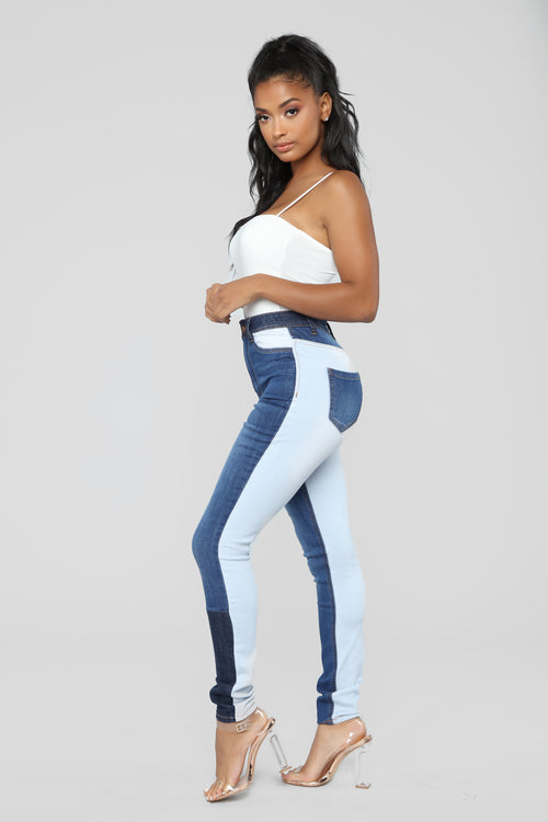 Two Faced Babe High Rise Jeans - Medium Blue Wash