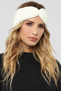Change The Chenille Headband - Ivory