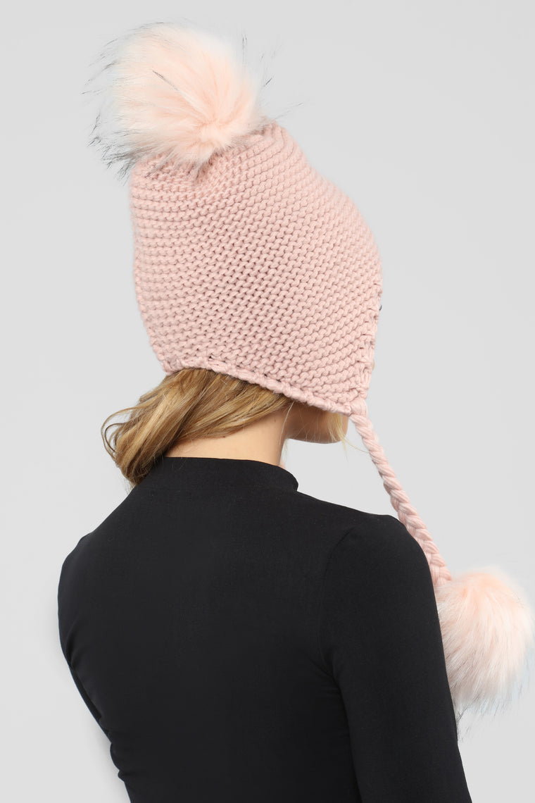 Braid It A 10 Beanie - Pink