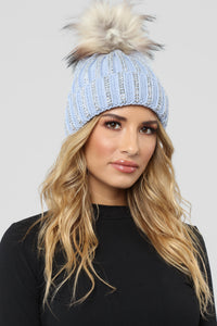 Saved Fur No One Beanie - Light Blue Angle 1