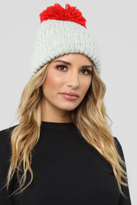 I Do Knit Have Cable Beanie - Grey