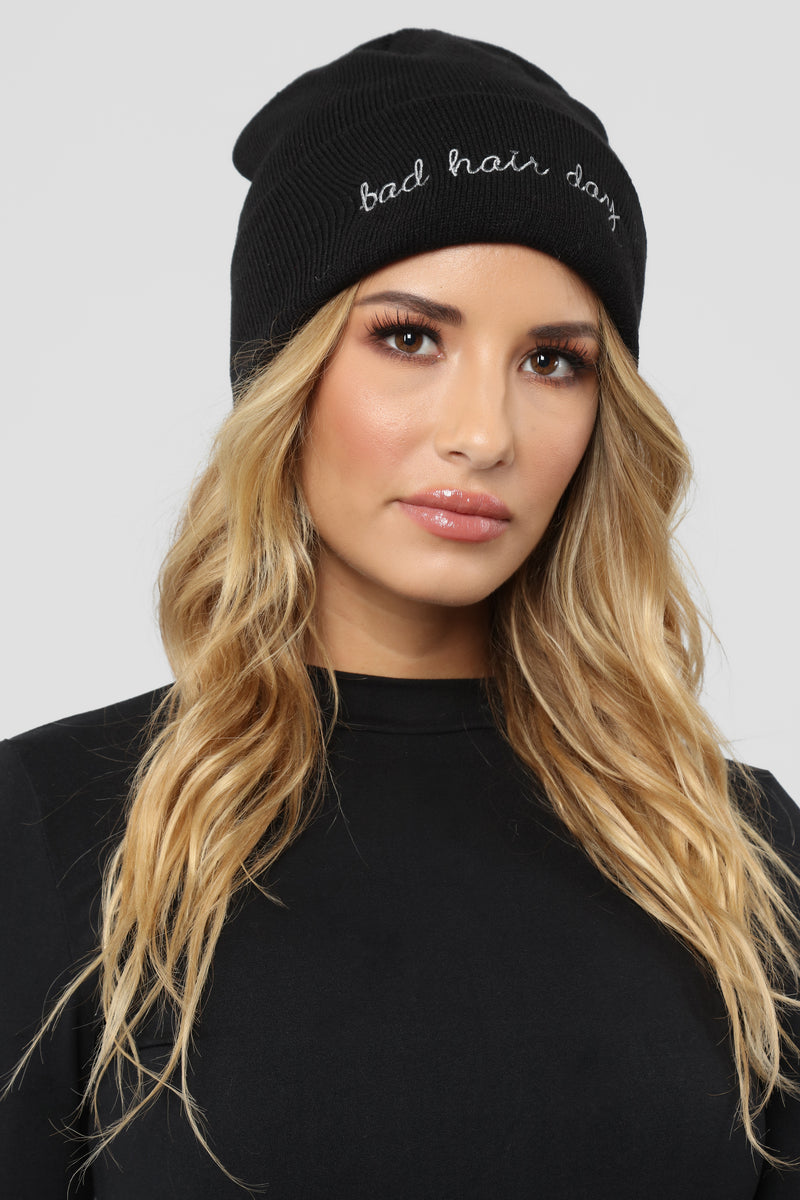 Bad Hair Day Beanie - Black