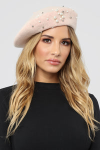 Pearl Kinda Girl Beret - Blush