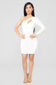 She Is The Party Mini Dress - Ivory