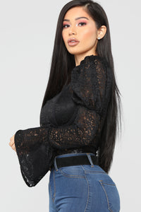 Alexandra Lace Bodysuit - Black
